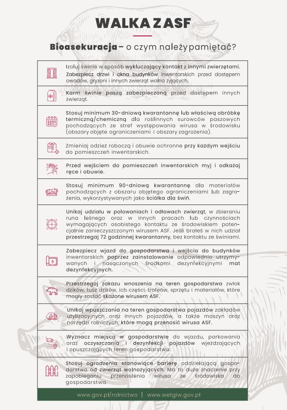 Ilustracja do informacji: Bioasekuracja
