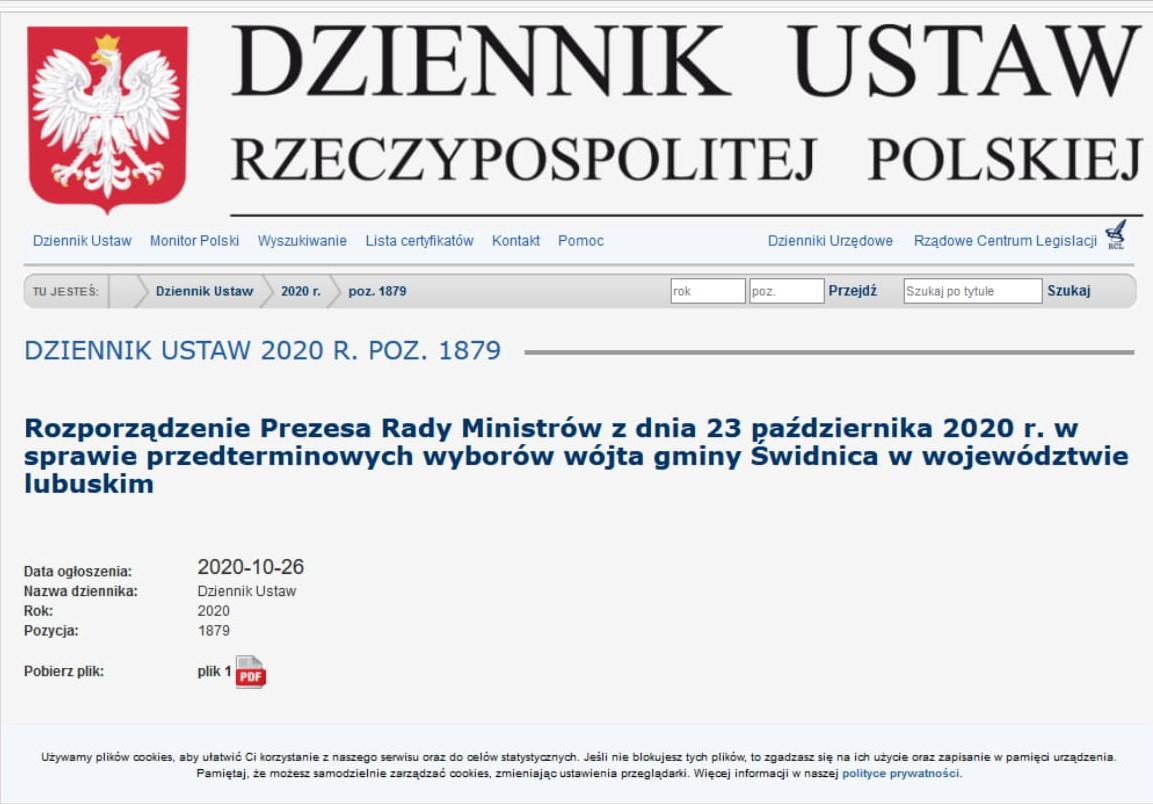 Ilustracja do informacji: Termin wyborów wójta Gminy Świdnica
