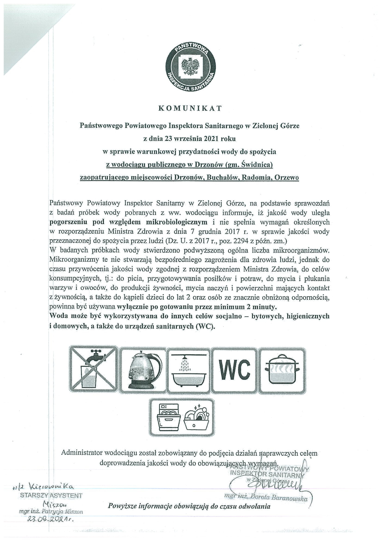 Ilustracja do informacji: Komunikat sanepidu