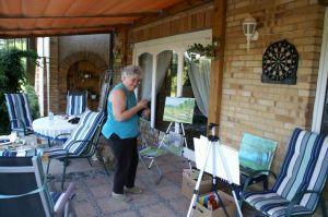 """Miniatura zdjęcia: """"Wiosna w malarstwie"""" - plener malarski dla Seniorów"""