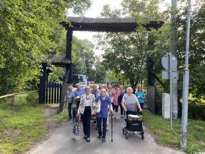 Miniatura zdjęcia: grupa seniorów na spacerze w parku